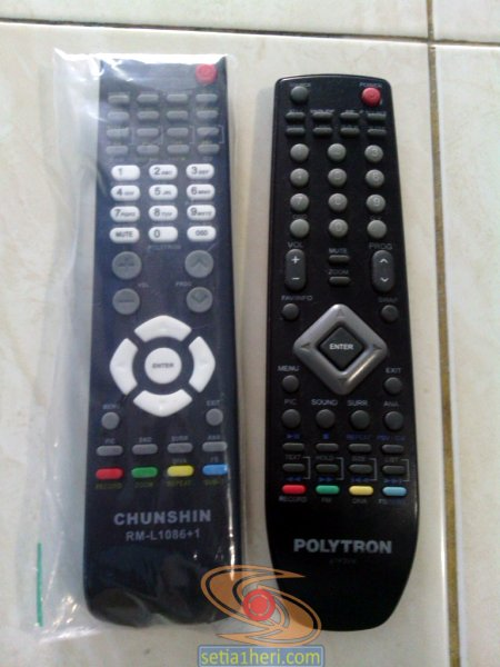 Remote TV LCD Polytron rusak, ada alternatifnya gan...