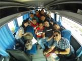 blogger istiqomah di bus menuju Bali