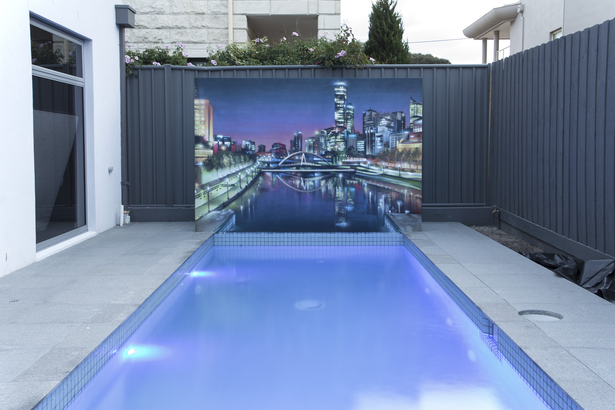 Graffiti Artist Melbourne Poolside Wall Art With