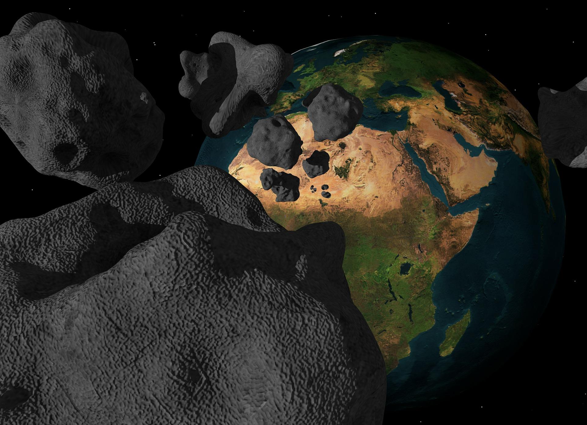 meteorite-in-space