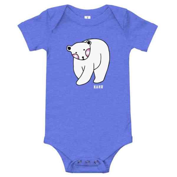 baby short sleeve one piece heather columbia blue 5ff2d2eeaf061