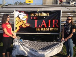SHU CRU unveiled the new student section for the homecoming game.