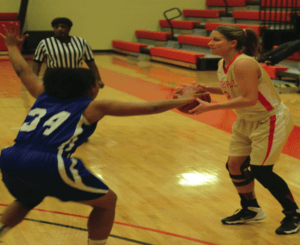 Sanner looks for a teammate to pass the ball to. Photo courtesy of D.Clark/Setonian