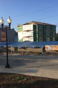 Current update on the construction of the College Ave. Apartment building