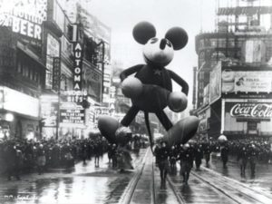 Macy's Thanksgiving Day Parade 1934. One of the original Mickey Mouse floats. Photo courtesy of ipoll.com.