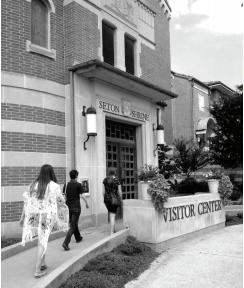 SHU students visit the National Shrine of Saint Elizabeth Ann Seton. Photo courtesy by M.Weighart/Setonian