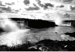 View of Niagara Falls in the early morning from the overlook in Niagara, Ontario. Photo courtesy by C.Cunningham/Setonian