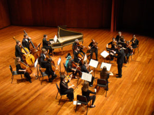 String musicians performing Sinfonia during the Fall concert. Photo courtesy of Rick Carlins recording.