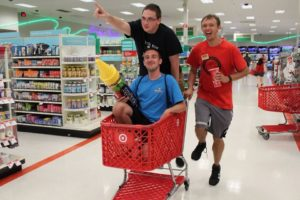 SHU students turn Target Takeover into a shopping adventure. Photo courtesy of E.Michaux.