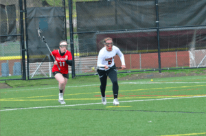 The lacrosse team works hard during practice. Photo courtesy of D.Clark.