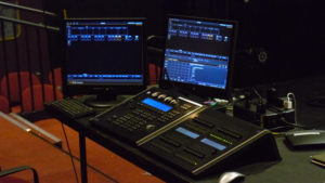 The light and sound boards pictured are set up for the concert. Photo courtesy of B.Malley.