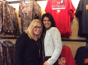 Amy Biller and Shannon Davis, employees of the bookstore, pose for a photo. Photo courtesy of H.Carnahan.