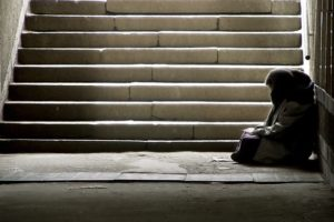 Many homeless individuals are often overlooked in public. Photo courtesy of thejournal.co.uk.