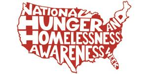 The official logo of National Hunger and Homelessness Awareness Week spans across the United States. Photo courtesy of nationalhomeless.org.