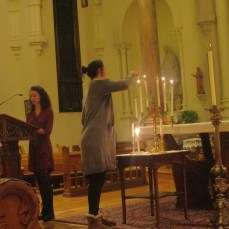 The fifth candle is lit. Photo by C.Arida/Setonian.