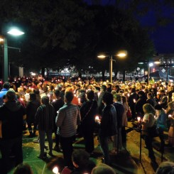 Voice of Westmoreland estimates that nearly 500 people attended the the candlelight vigil at the Westmoreland County Courthouse in Greensburg on Oct. 29 for the victims of the shooting at the Tree of Life synagogue in Squirrel Hill.