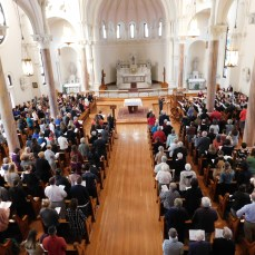 Members of the Seton Hill community gathered in St. Joseph Chapel on Oct. 30 to remember the lives lost in the Tree of Life synagogue shooting in Squirrel Hill that occurred on Oct. 27. Photo by H.Carnahan/Setonian.