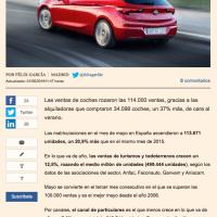500.000 vehículos vendidos en los primeros cinco meses de 2016