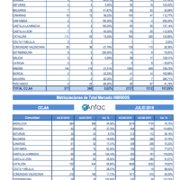 Julio 2016: Quinto mes consecutivo por encima de las 100.000 matriculaciones, sólo un 3% híbridos y eléctricos