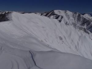 大日ヶ岳への稜線