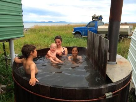 Hot tubbing at Fish Camp