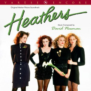 heathers album cover with four actresses