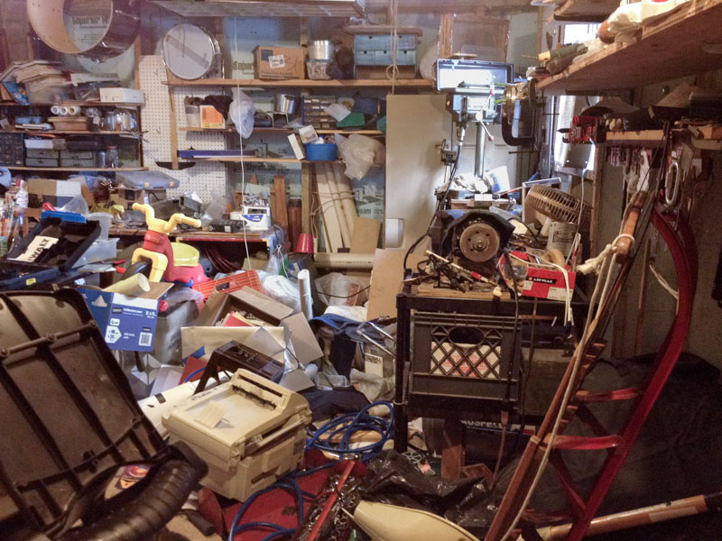 Image result for cluttered basement  pictures