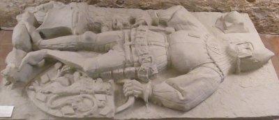 Plaster cast of tomb effigy