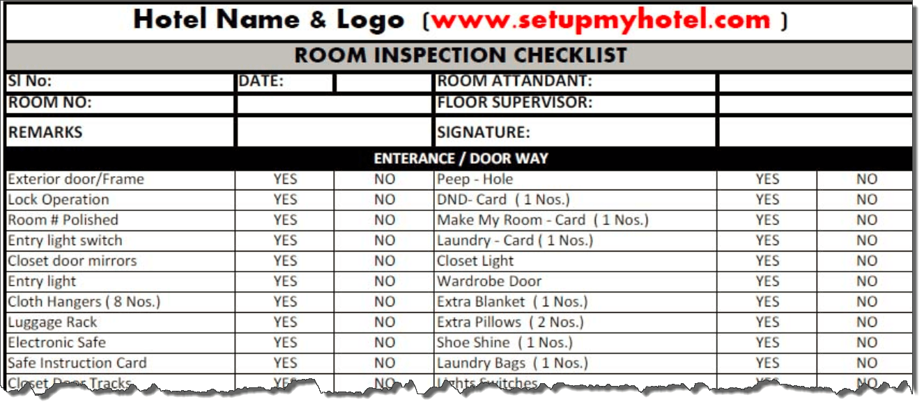 Status.net business templates get 100+ free applets for your business. Room Inspection Checklist Housekeeping