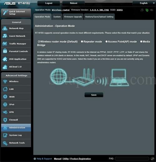 Asus RT-N18U Screenshot OperationMode