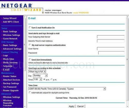 Netgear WNDR3400 Screenshots