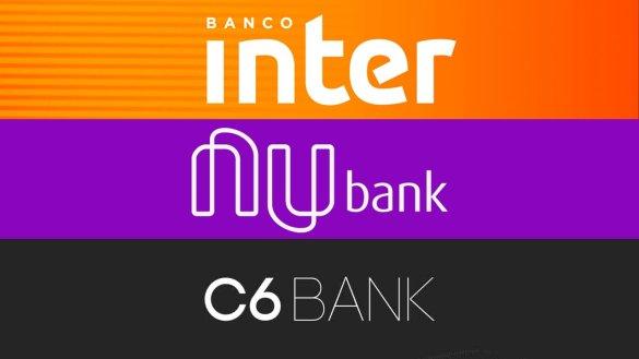 Banco Inter, Nubank ou C6 Bank, qual o melhor banco digital