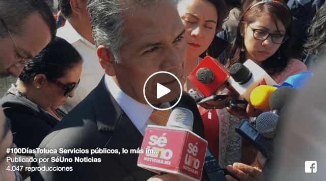 #100DíasToluca Servicios públicos, lo más importante para la administración: Zamora