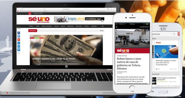 SéUno Noticias, primer medio digital en tener Artículos Instantáneos de Facebook y AMP de Google en Edomex