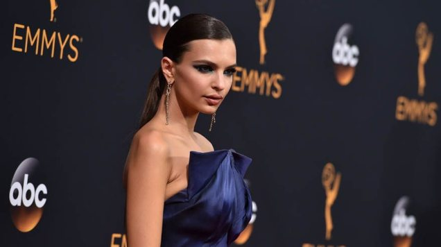 Emily Ratajkowski arrives at the 68th Primetime Emmy Awards on Sunday, Sept. 18, 2016, at the Microsoft Theater in Los Angeles. (Photo by Jordan Strauss/Invision/AP)