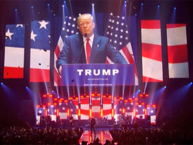 """U2 le contesta a Donald Trump, """"El sueño americano está vivo""""."""