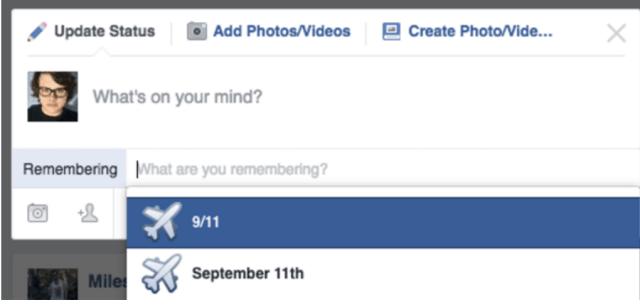 Facebook utiliza el 'emoji' de un avión para conmemorar el 11-S