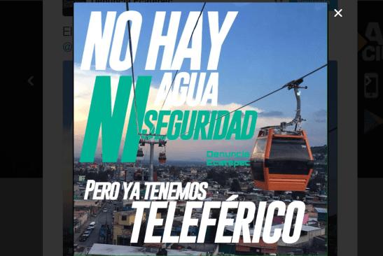 Teleférico de Ecatepec causa burlas en internet
