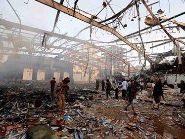 Ataque aéreo a funeraria deja 82 muertos en Yemen