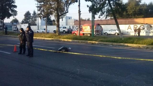 Atropellan y muere hombre en la Toluca-Tenango