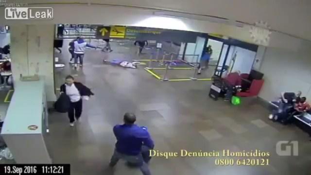 Matan a balazos a joven dentro del Aeropuerto Internacional de Brasil