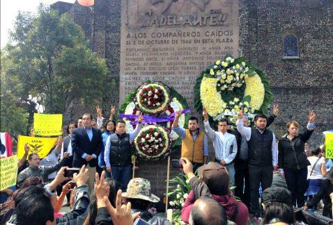 Recuerdan en Plaza de las Tres Culturas matanza estudiantil
