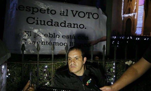 Cuauhtémoc Blanco inicia huelga de hambre en Cuernavaca