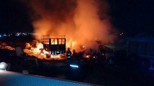 Se quema planta recicladora en Zumpango