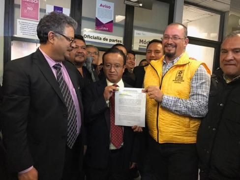 Presentan ante el IEEM dos solicitudes de registro de coalición