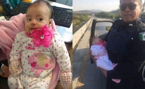 Aparecen supuestos familiares de bebé hallada en la México-Querétaro