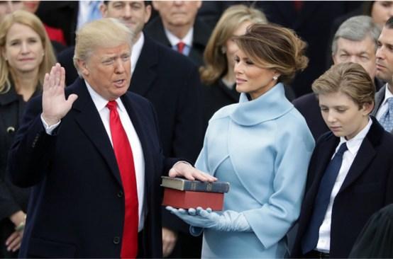 Donald Trump toma protesta como 45° presidente de EU