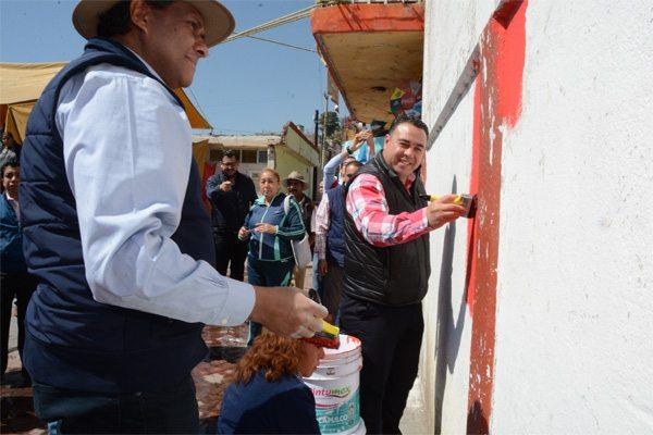 Arranca la pinta de 2 mil 600 fachadas en Tenango del Valle, para lo que se destinan 4 millones de pesos