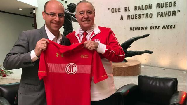 Toluca usará jersey conmemorativo del centenario ante Veracruz