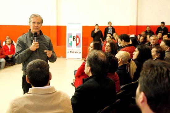 Pide Alfredo Del Mazo a priistas reconocer errores y pendientes en el estado de México